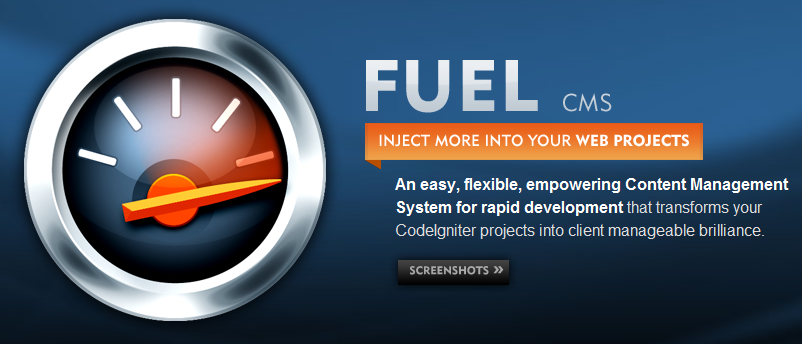 &quot;At its core, FUEL is a modular based, CodeIgniter development platform for creating web applications. You can create your models, views and controllers like normal and only use the CMS part when and if you need it. Its a hybrid of a framework and a CMS.&quot;