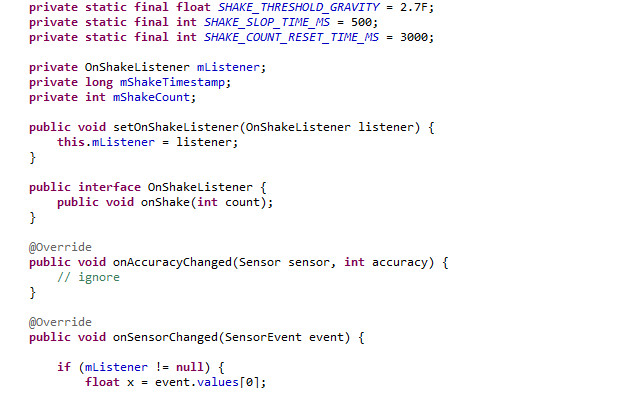 Android Tutorial: Implement A Shake Listener – Jason McReynolds