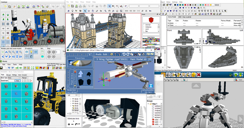 image gallery lego building software
