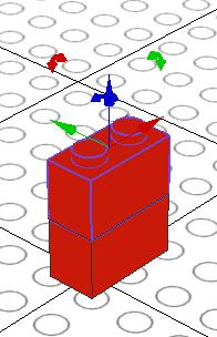 LeoCAD Part Move Example